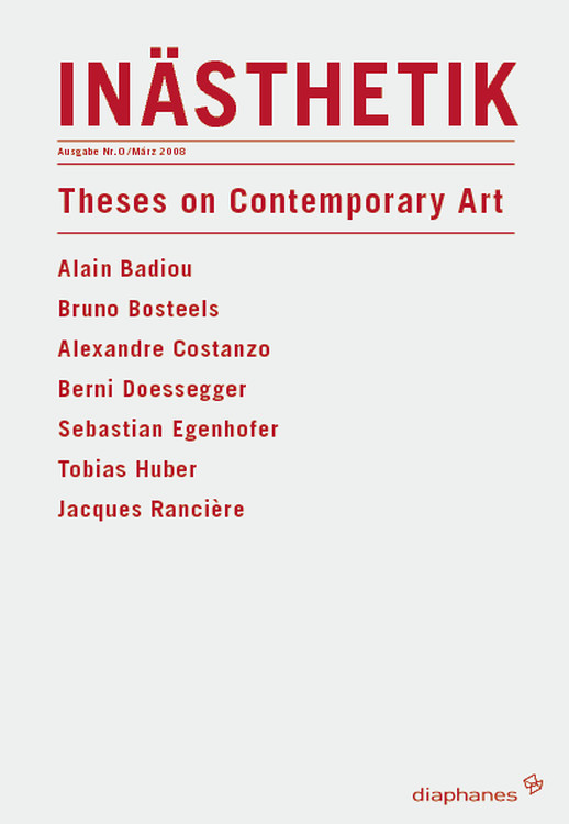 Alain Badiou: Fifteen theses on contemporary art